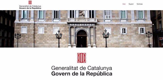Web difundida por Puigdemont sobre el 'Govern de la República'.