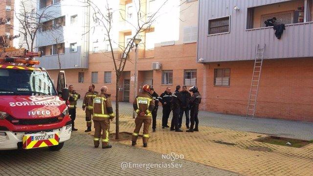 Intento de usurpación de una vivienda de Emvisesa en Sevilla