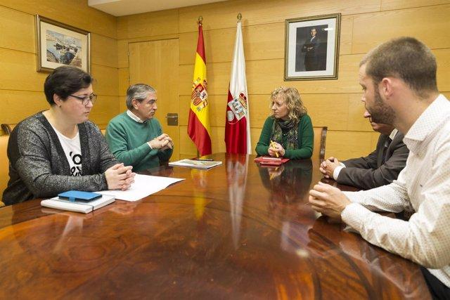 Reunión con el alcalde de Suances