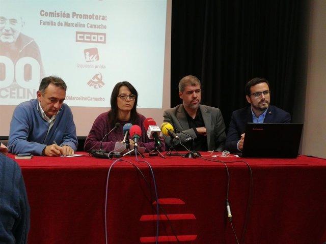 Unai Sordo (CCOO) y Alberto Garzón (IU)