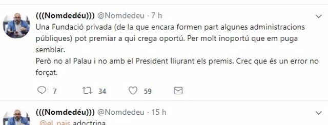 Twiter d'Enric Nomdedéu