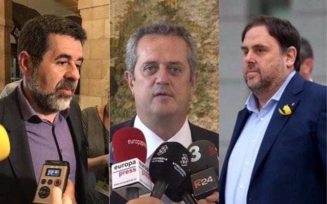 Junqueras, Forn y Sánchez