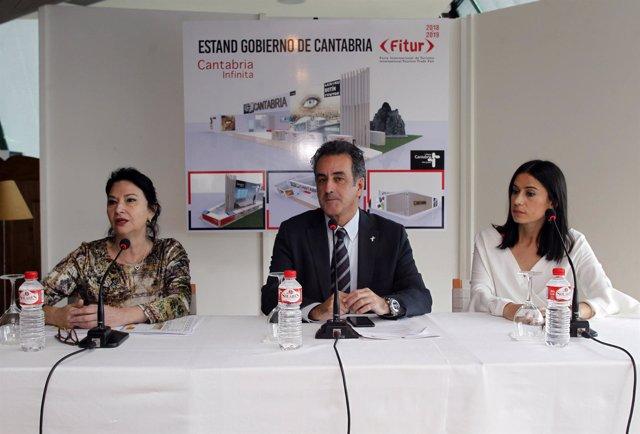 Presentación del stand de Cantabria en FITUR 2018