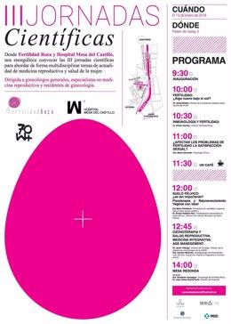 Imagen del cartel de la III Jornadas Científicas sobre Fertilidad