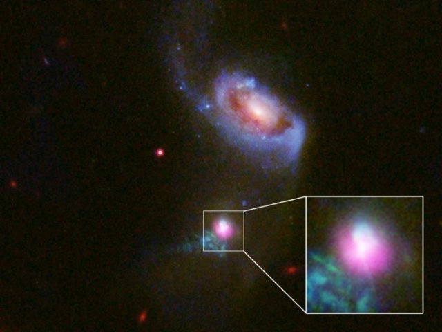 Detalle de las eyecciones en SDSS J1354+1327
