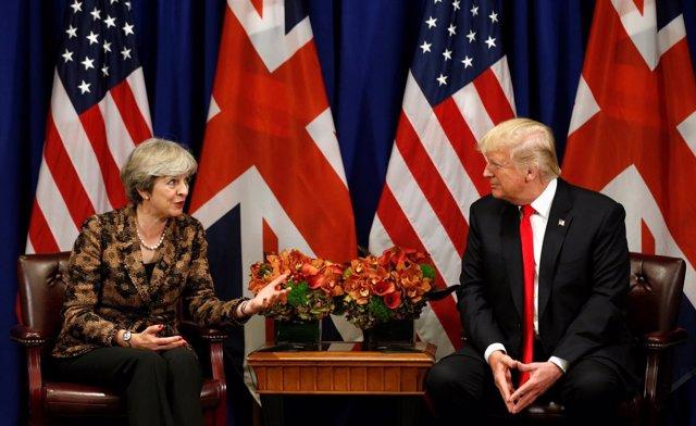 Theresa May y Donald Trump