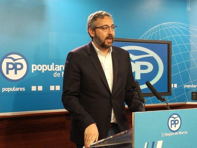 El portavoz regional del Partido Popular, Víctor Martínez