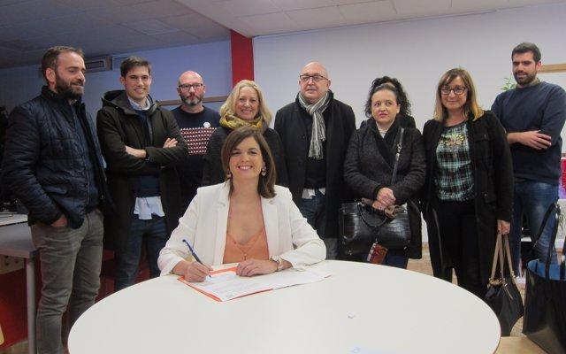 Gómez registra la seua candidatura a la secretaria general del PSPV de Vàlencia