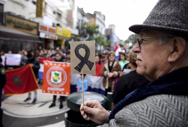 Protesta contra el EPP en Asunción (archivo)