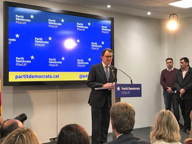 Artur Mas anuncia que deixa de presidir el PDeCAT