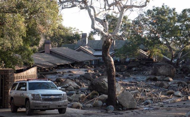 Daños provocados por las intensas lluvias en California en enero de 2018