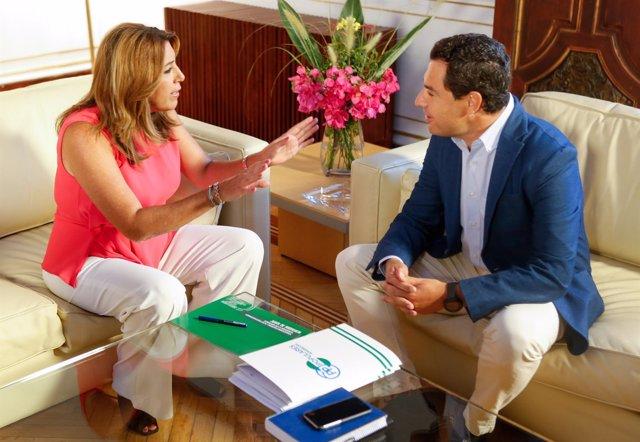 Susana Díaz y Juanma Moreno, reunidos en San Telmo