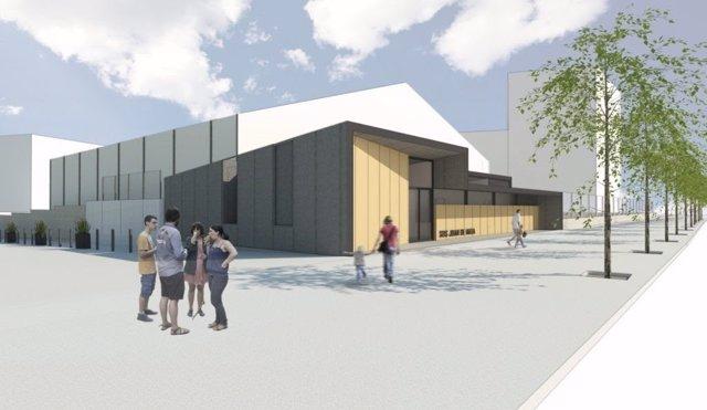 Planeamiento de un nuevo pabellón deportivo en el barrio de Sant Andreu