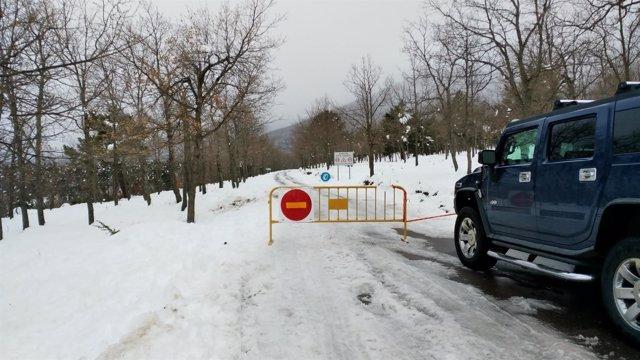 Prohibido el paso del tráfico rodado al Parque Natural del Moncayo.