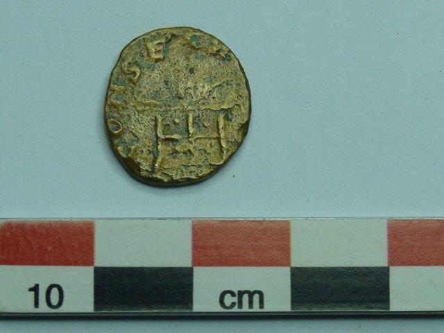 Moneda romana rescatada en Cantillana.