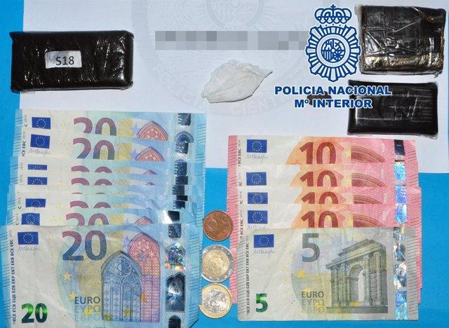 Dinero y droga intervenidos