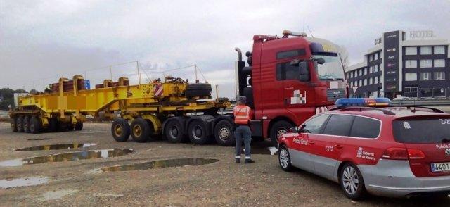 Camión inmovilizado en Castejón