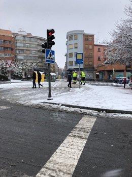León.- Aspectos de las calles de León