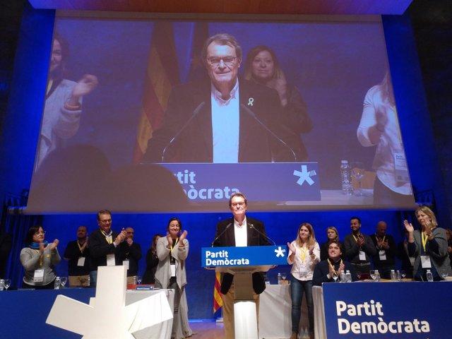 Artur Mas en el Consell Nacional del PDeCAT