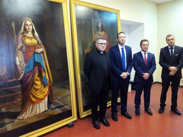 Pinturas restauradas monarquía asturiana en Covadonga