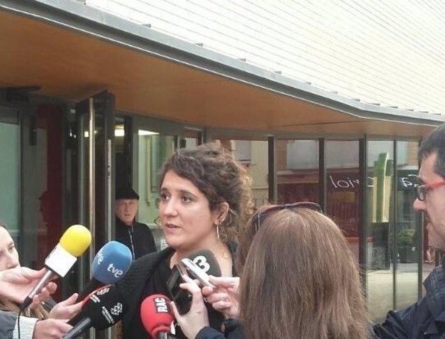 La portaveu del Secretariat Nacional de la CUP, Núria Gibert