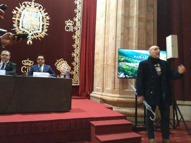 Interrumpen la presentación de Asturias en Fitur, Hotel de la Reconquista
