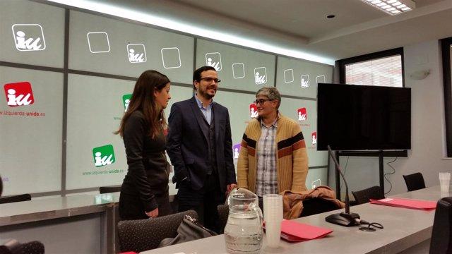 Alberto Garzón en la reunión Coordinadora Federal de Izquierda Unida