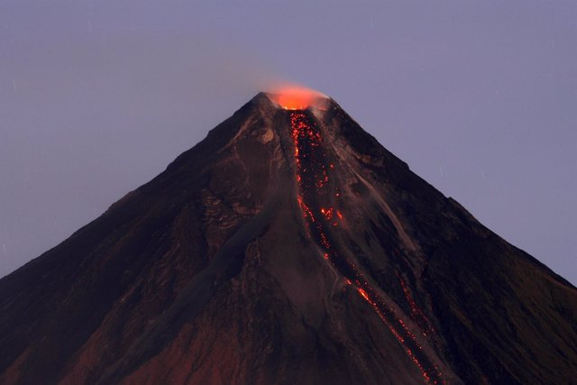 Volcan Mayon en Filipinas