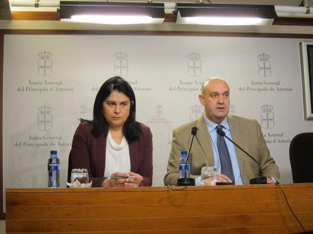 Los diputados de Foro Asturias en la Junta General Pedro Leal y Carmen Fernández