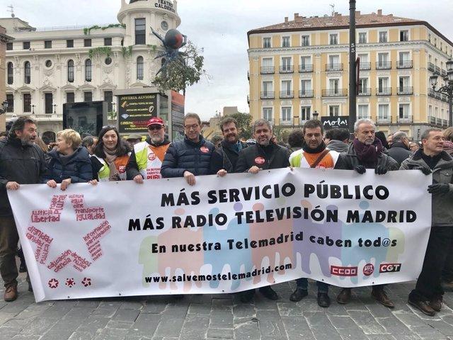 Trabajadores de Radio Televisión Madrid recuerdan el 5º aniversario del ERE