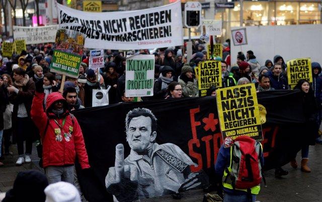 Manifestación contra el FPÖ en Viena