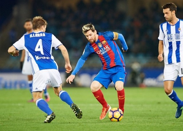 Leo Messi Asier Illarramendi Xabi Prieto Barcelona Real Sociedad