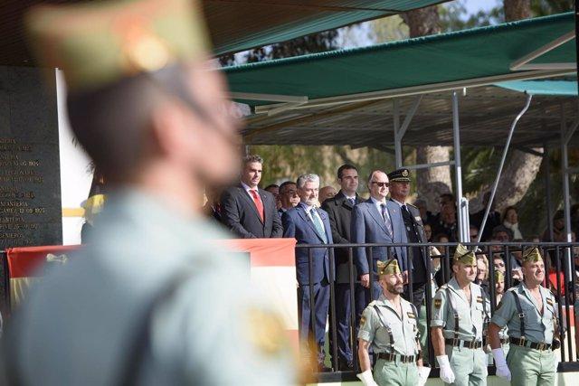 Parada militar en la Brigada de la Legión de Viator (Almería)