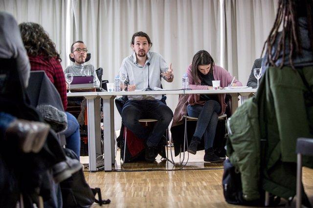 Pablo Iglesias, secretario general de Podemos, en el Consejo Ciudadano