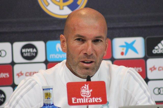 Zidane (Real Madrid) en rueda de prensa