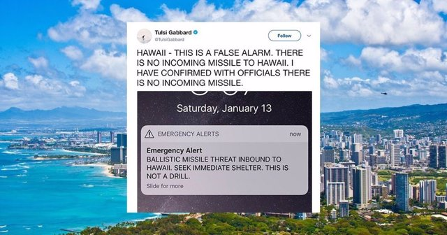 Falsa alarma por misil balístico en Hawái