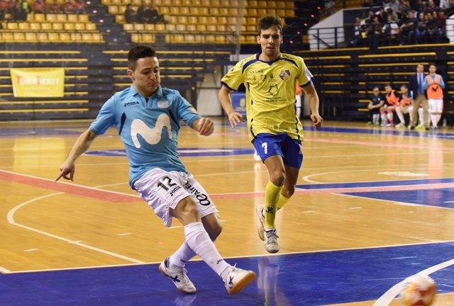 Borja, de Inter, ante Gran Canaria en la Liga Nacional de Fútbol Sala