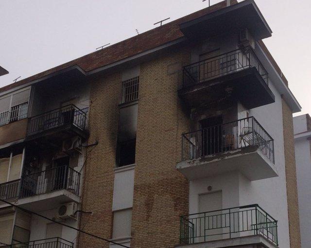 Incendio registado en un bloque de Dos Hermanas