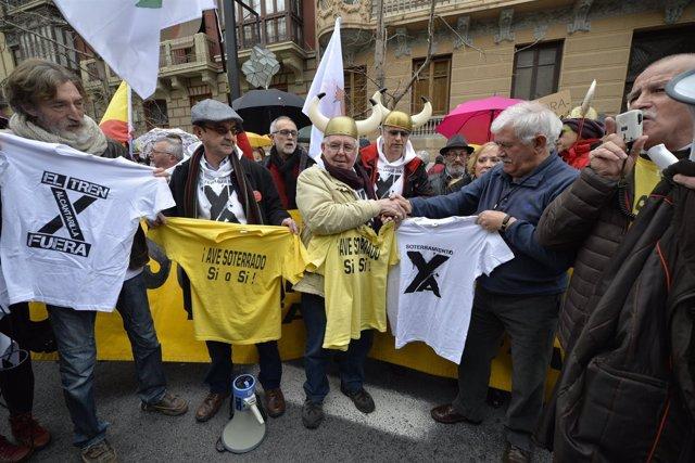 Algunos de los manifestantes