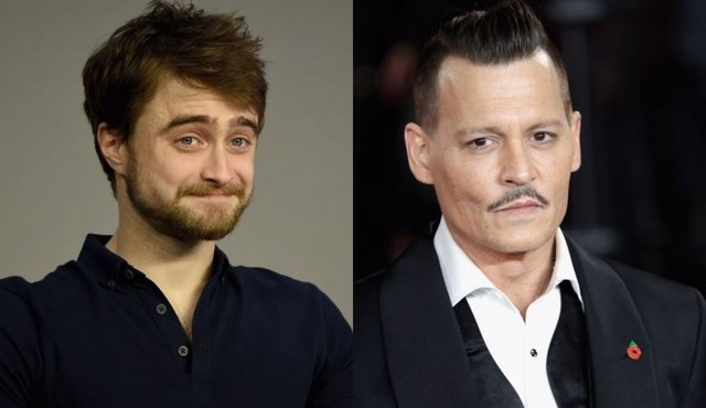 Daniel Radcliffe y Johnny Depp