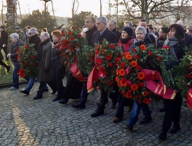 Homenaje a Rosa Luxemburgo y Karl Liebknecht en Berlín