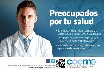 La campaña 'Preocupados por tu salud' recuerda la importancia de que sea un profesional quien cuide la salud bucodental