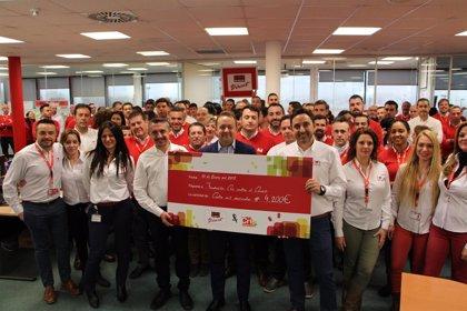 El equipo comercial de Securitas Direct dona 4.200 euros a la Fundación CRIS contra el Cáncer