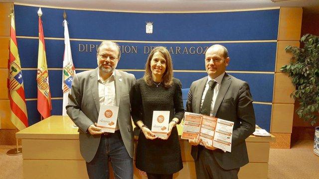 Presentación de Promhotel 2018 este lunes en la Diputación de Zaragoza.