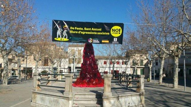 La campaña 'No i punt!' contra las agresiones sexistas vuelve a 16 municipios de Mallorca por Sant Antoni