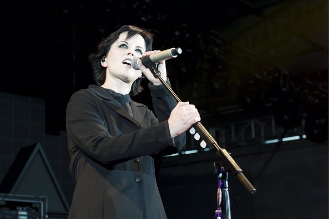 Dolores O'Riordan of The Cranberries performs live in concert at F1 Rocks at the