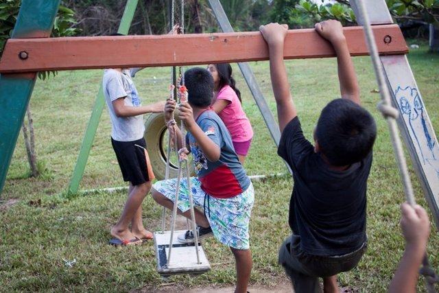 Niños de la casa hogar 'El Principito' en Puerto Maldonado