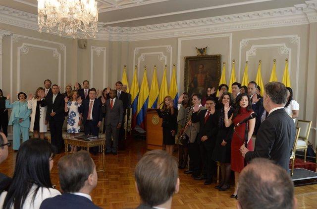 Juan Manuel Santos toma juramento a los magistrados de la JEP