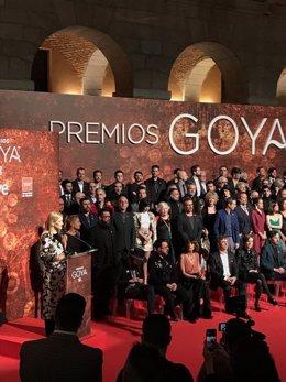 Cifuentes en el encuentro de nominados a la 32 edición de los Premios Goya