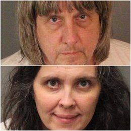 David Turpin y su esposa Louise Ann Turpin, padres de los 13 jovenes encadenados